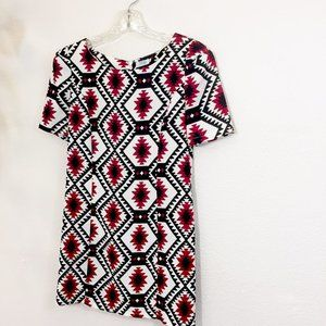 Tobi Aztec Print Short Dress